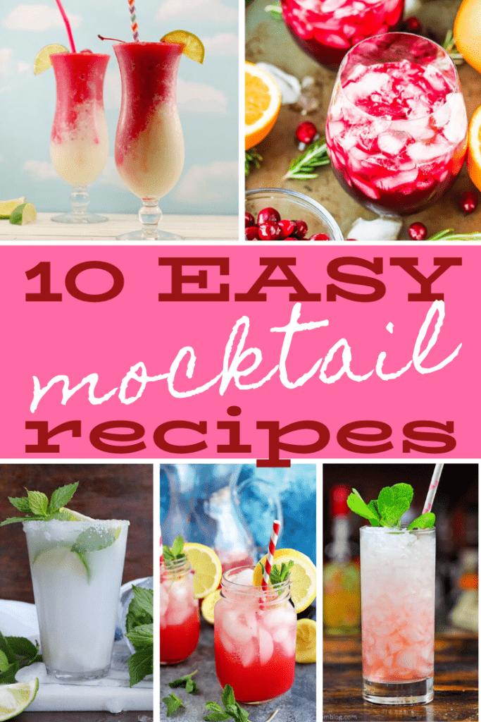 10 Easy mocktail recipes