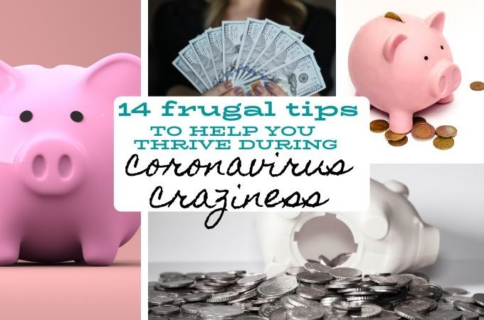 14 frugal tips for coronavirus