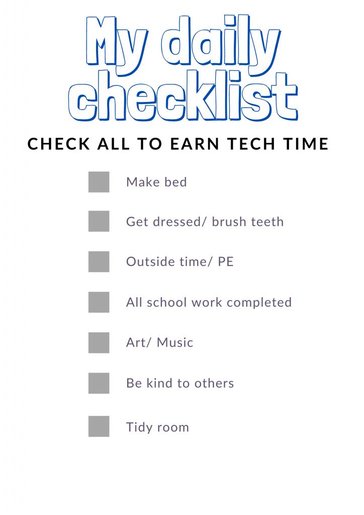 Daily checklist printable