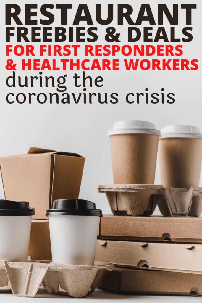 free food and coffee freebies and deals for first responders and healthcare workers during coronavirus