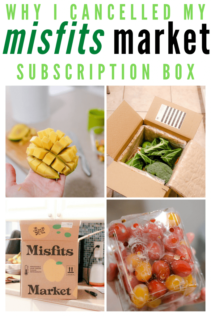 why I cancelled my misfits market subscription box