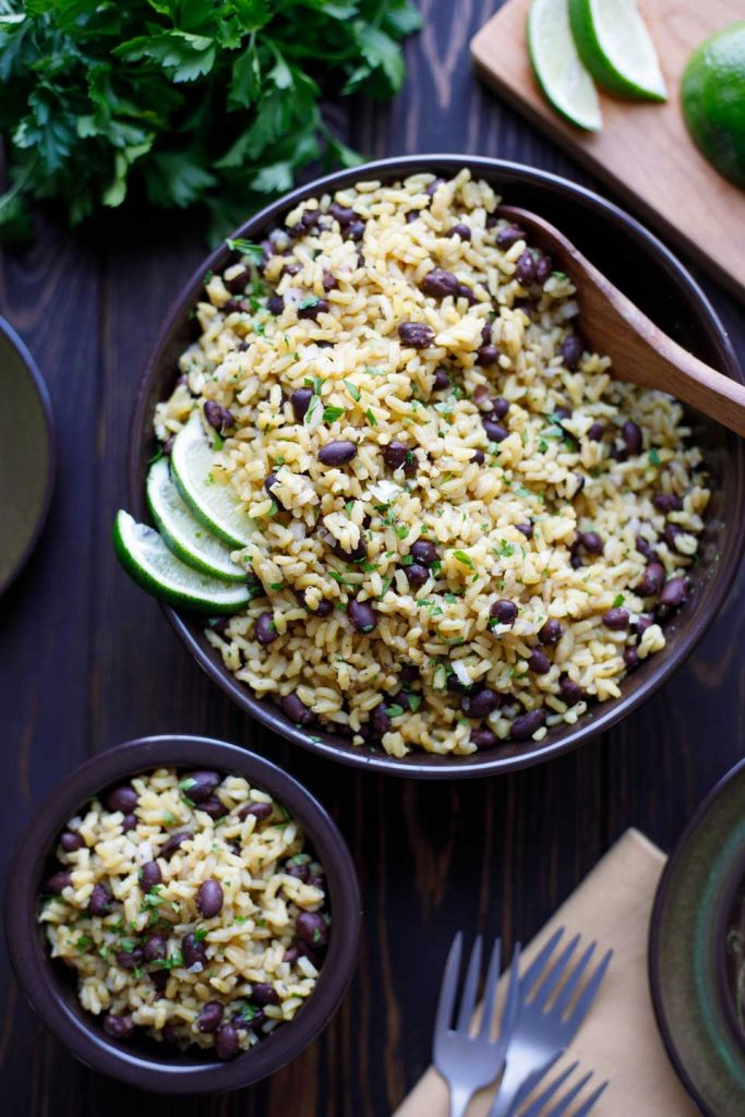 Easy rice and beans by two healthy kitchens