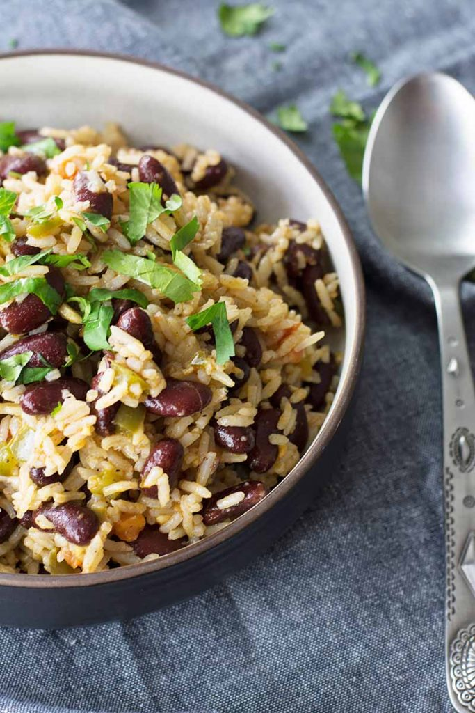 homemade rice and beans from foodal