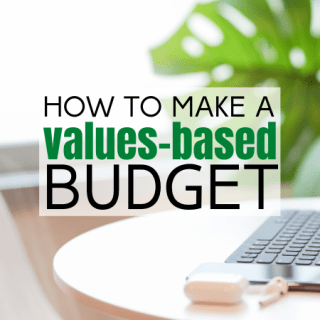 how to make a values-based budget facebook