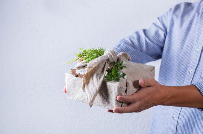 Creative zero waste Christmas concept
