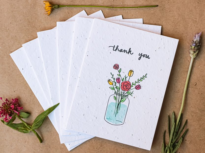 thank you cards with seeds